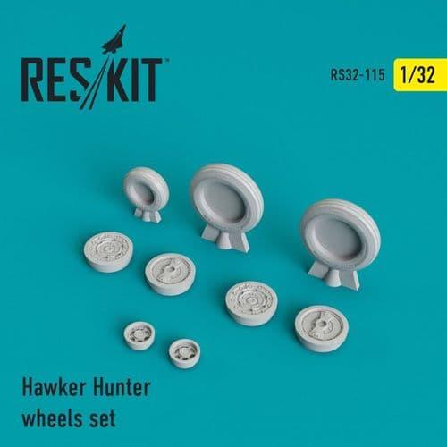 ResKit 1/32 Hawker Hunter F.6/FGA.9/Mk.58 Wheels Set # 32-0115