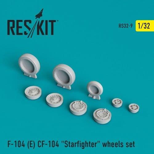 ResKit 1/32 Lockheed CF-104 Starfighter Wheels Set # 32-0009