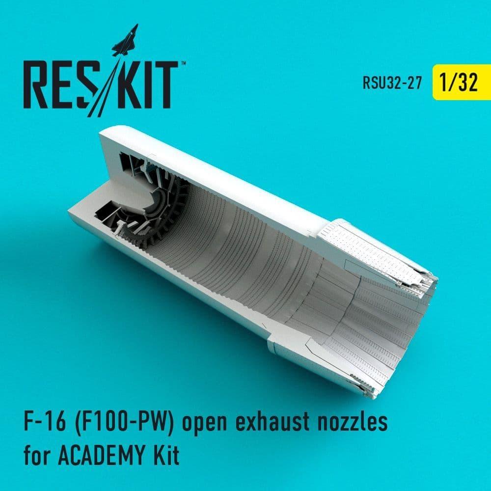 ResKit 1/32 Lockheed-Martin F-16 (F100-PW) Open Exhaust Nozzles # U32-0027
