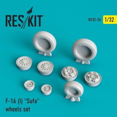 ResKit 1/32 Lockheed-Martin F-16I Sufa 'Storm' Wheels Set # 32-0026