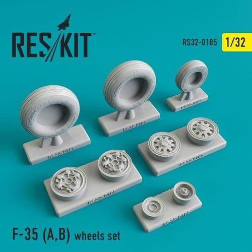 ResKit 1/32 Lockheed-Martin F-35A/F-35B Wheels Set # 32-0185