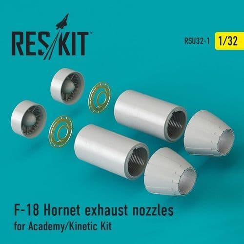 ResKit 1/32 McDonnell-Douglas F/A-18A/B/C/D Exhaust Nozzles # U32-0001