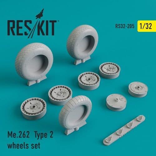 ResKit 1/32 Messerschmitt Me-262A-1/B-2 Type 2 Wheels Set # 32-0205