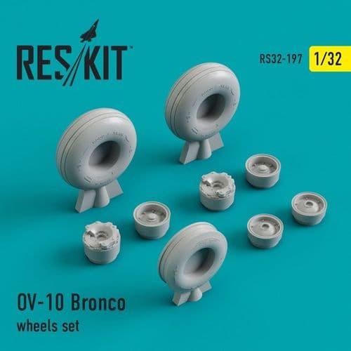 ResKit 1/32 North-American/Rockwell OV-10A/C/D Bronco Wheels Set # 32-0197