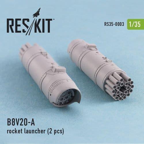 ResKit 1/35 B-8V20-A Rocket Launcher x 2 # 35-0003