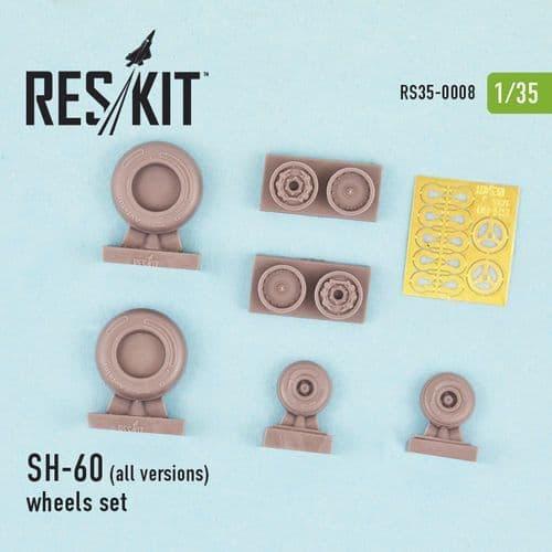 ResKit 1/35 Sikorsky SH-60 (All Versions) Wheels Set # 35-0008