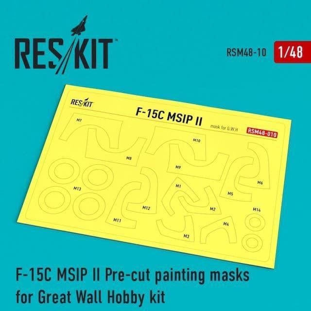 ResKit 1/48 McDonnell F-15 Eagle MSIP ll Pre-cut Paint Masks # M48-0010