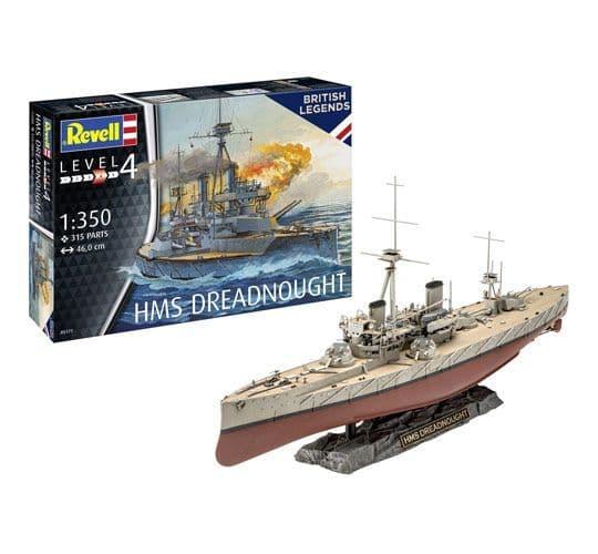 Revell 1/350 British Legends HMS Dreadnought # 05171