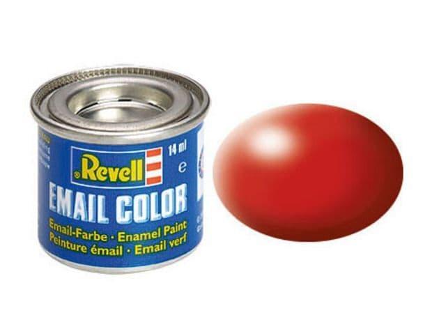 Revell 14ml Fiery Red Silk enamel paint # 330