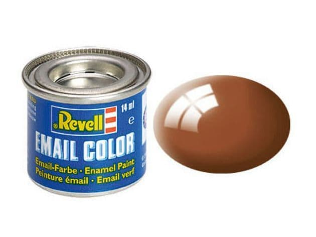 Revell 14ml Mud Brown Gloss enamel paint # 80