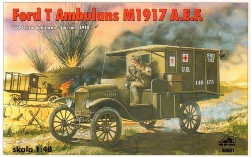 RPM 1/48 Ford T Ambulance M1917 A.E.F. # 48001