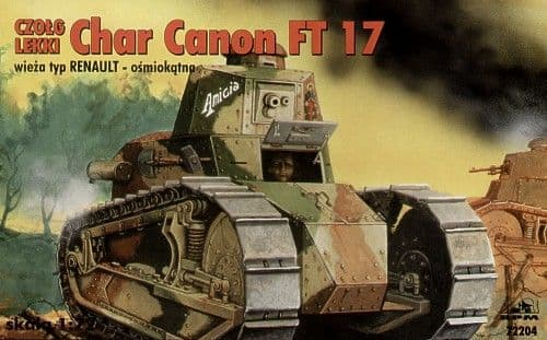 RPM 1/72 Char Canon Renault FT-17 with Renault Turret # 72204