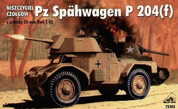 RPM 1/72 Pz. Spahwagen P 204 (f) with 50mm Kwk L 42 # 72303