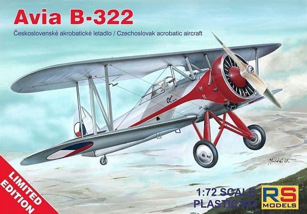 RS Models 1/72 Avia B-322 # 94002