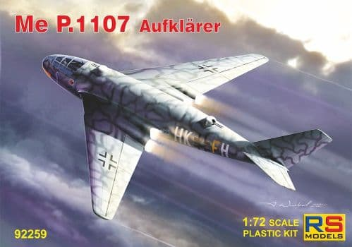 RS Models 1/72 Messerschmitt P.1107 Aufklarer # 92259
