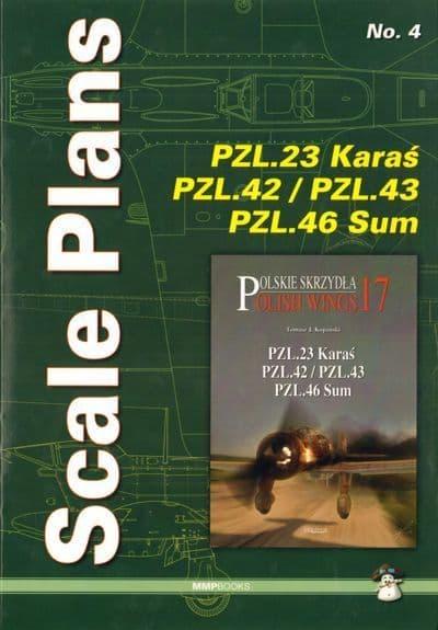 Scale Plans for PZL P.23 Karas, PZL P.42/PZL P.43 and PZL P.46 Sum