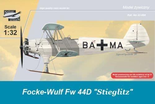 Silver Wings 1/32 Focke Wulf Fw44D Stieglitz on Skis # 32004