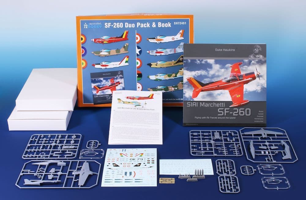 Special Hobby 1/72 SIAI-Marchetti SF-260 Duo Pack & Book # 72451