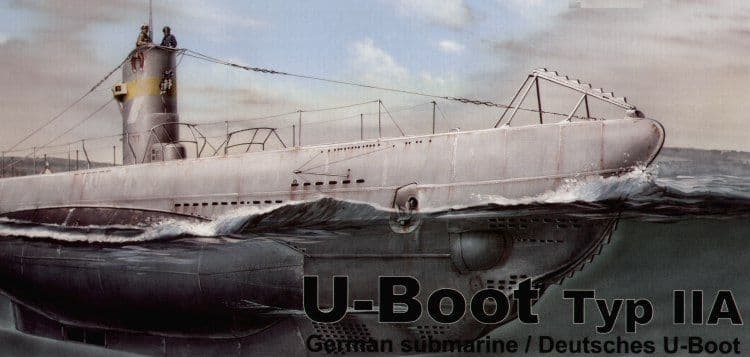 Special Navy 1/72 U-Boat Type IIA # 72002