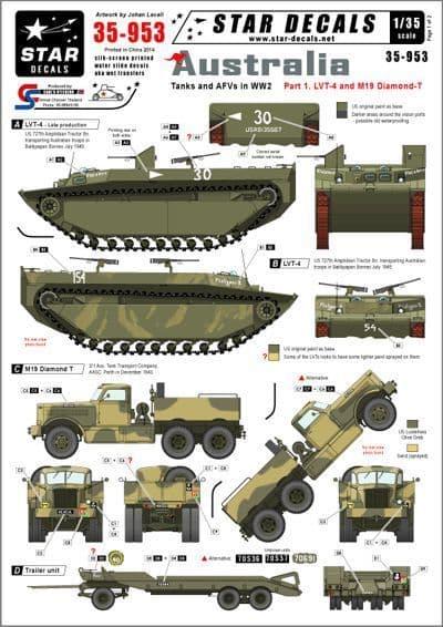 Star Decals 1/35 Australian Tanks and AFVs # STAR35953