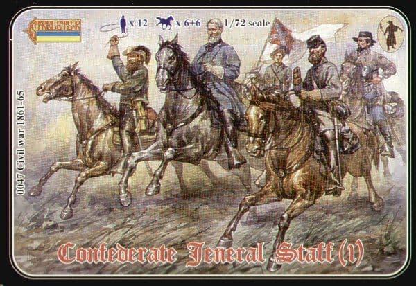Strelets 1/72 Confederate General Staff (1) # 04772