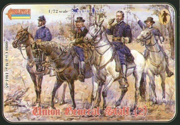 Strelets 1/72 Union General Staff Set 2 # 08072