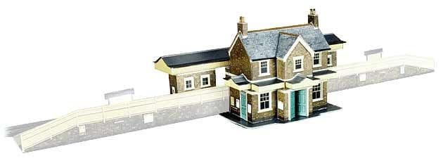 Superquick 1/72 Country Station Building (A2) # 99001