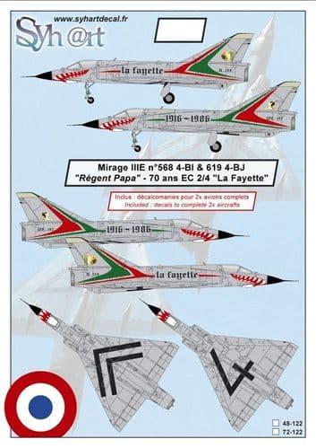 Syhart Decals 1/72 Dassault Mirage IIIE