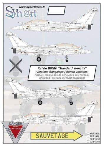 Syhart Decals 1/72 Dassault Rafale B/C/M