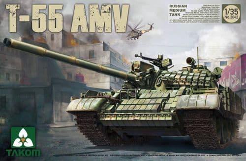 Takom 1/35 Soviet T-55 AMV Medium Tank # 02042