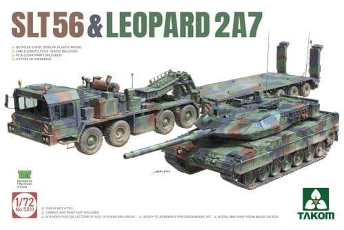 Takom 1/72 FAUN SLT-56 Franziska & Leopard 2A7 # 05011