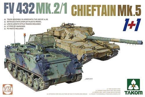 Takom 1/72 FV432 Mk.2/1 & Chieftain Mk.5 (1+1) # 05008