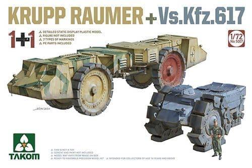 Takom 1/72 Krupp Raumer + Vs.Kfz.617 (1+1) # 05007