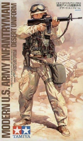 Tamiya 1/16 Modern US Army Infantryman (Desert Uniform) # 36308