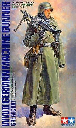 Tamiya 1/16 WWII German Machine Gunner (Greatcoat) # 36306