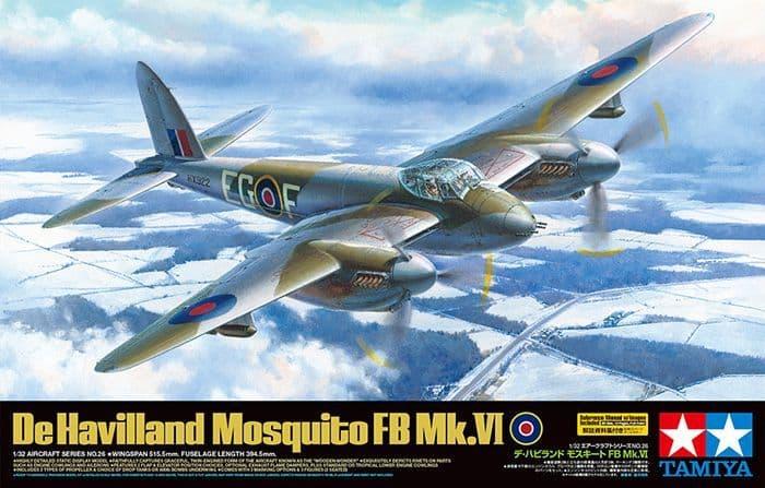 Tamiya 1/32 De Havilland Mosquito FB Mk.VI w/Clear Engine Cowling Parts # 60326