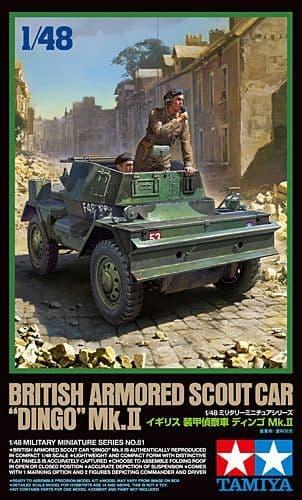 "Tamiya 1/48 British Armored Scout Car ""Dingo"" Mk.II # 32581"