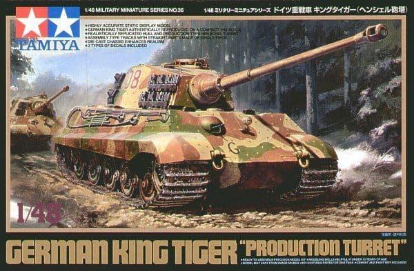 "Tamiya 1/48 German King Tiger ""Production Turret"" # 32536"