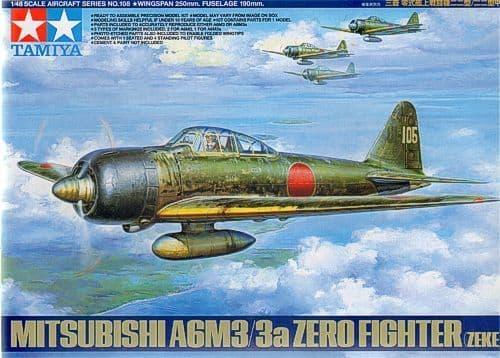 Tamiya 1/48 Mitsubishi A6M3/3A Zero Fighter Zeke # 61108