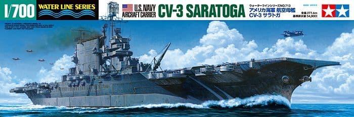 Tamiya 1/700 U.S. Navy Aircraft Carrier CV-3 Saratoga # 31713