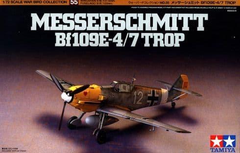 Tamiya 1/72 Messerschmitt Bf109E-4/7 Tropical # 60755