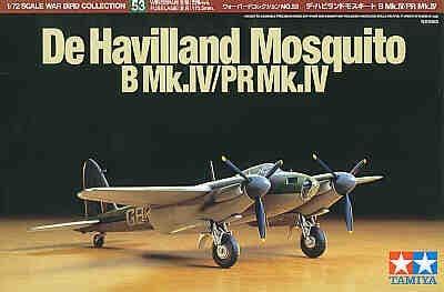 Tamiya 1/72 Mosquito B Mk.IV/PR Mk.IV # 60753