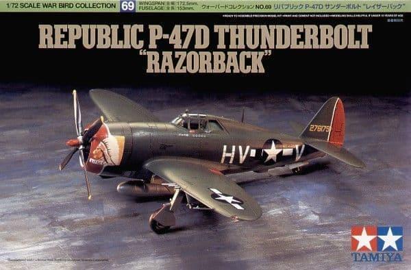 Tamiya 1/72 P-47D Thunderbolt Razor back # 60769