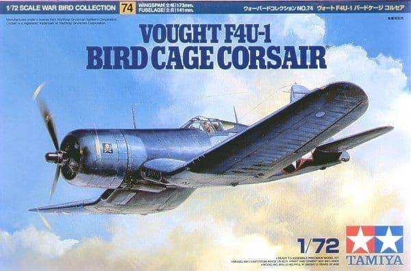 Tamiya 1/72 Vought F4U-1 Bird Cage Corsair # 60774