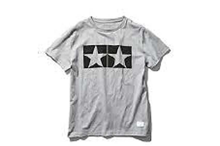 Tamiya - (L) Watanabe Tamiya T V2 T-Shirt with Short Sleeves (Grey) # 67065