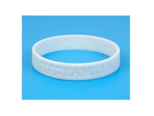 Tamiya - Silicone Bracelet (White) # 67027