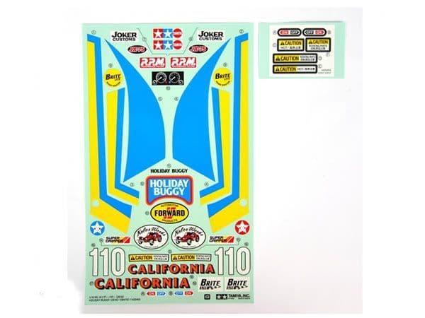 Tamiya - Sticker/ Decal Bag for 58470 - Holiday Buggy # 9495640