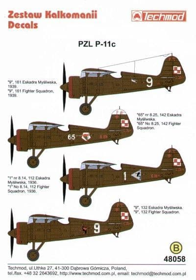 Techmod 1/48 PZL P.11C Part 2. (4) # 48058