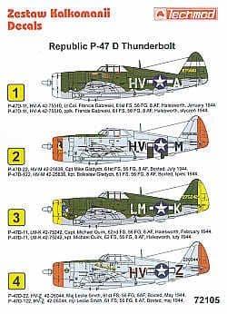 Techmod 1/72 Republic P-47D Thunderbolt Razorback # 72105
