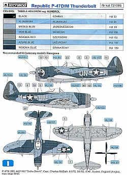 Techmod 1/72 Republic P-47M Thunderbolt Bubble # 72109